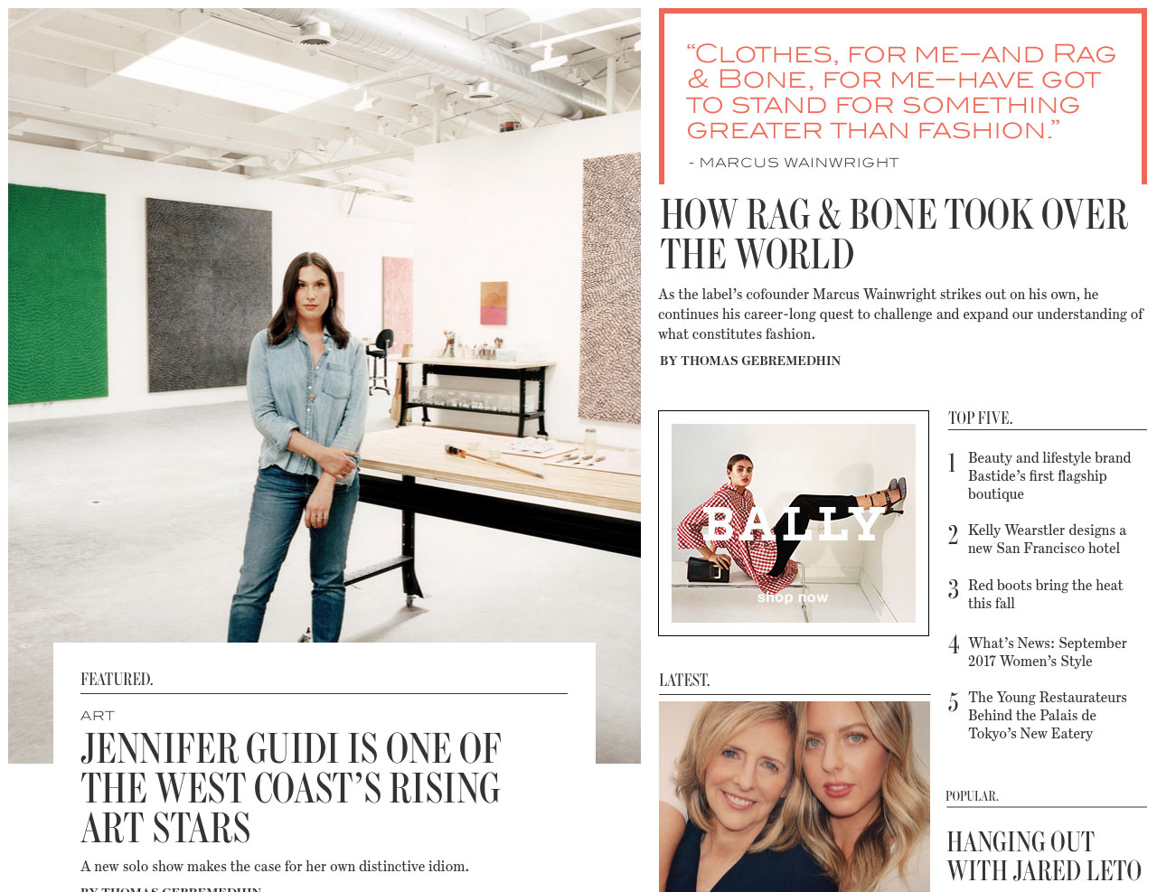 My first pass at the WSJ. Magazine Homepage