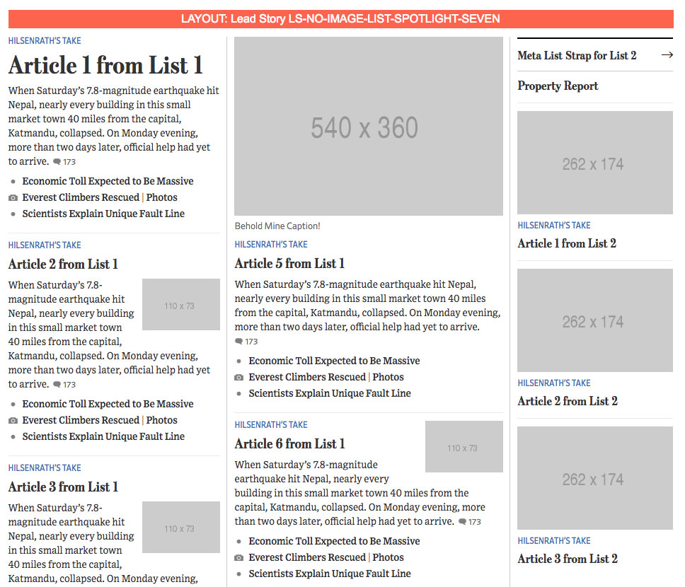 A layout variation of the current home page