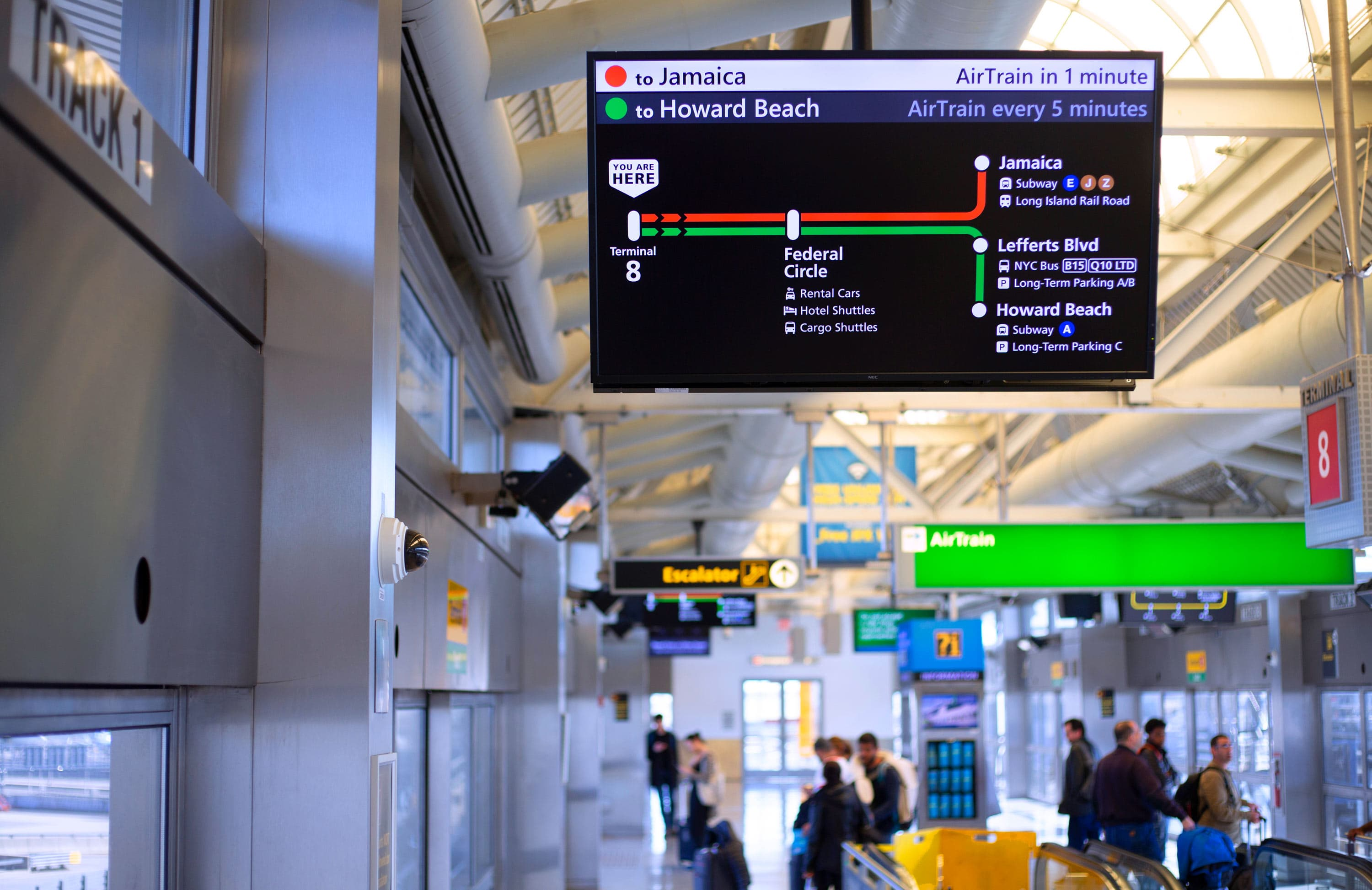 The final redesign comissioned by the agency in charge of AirTrain