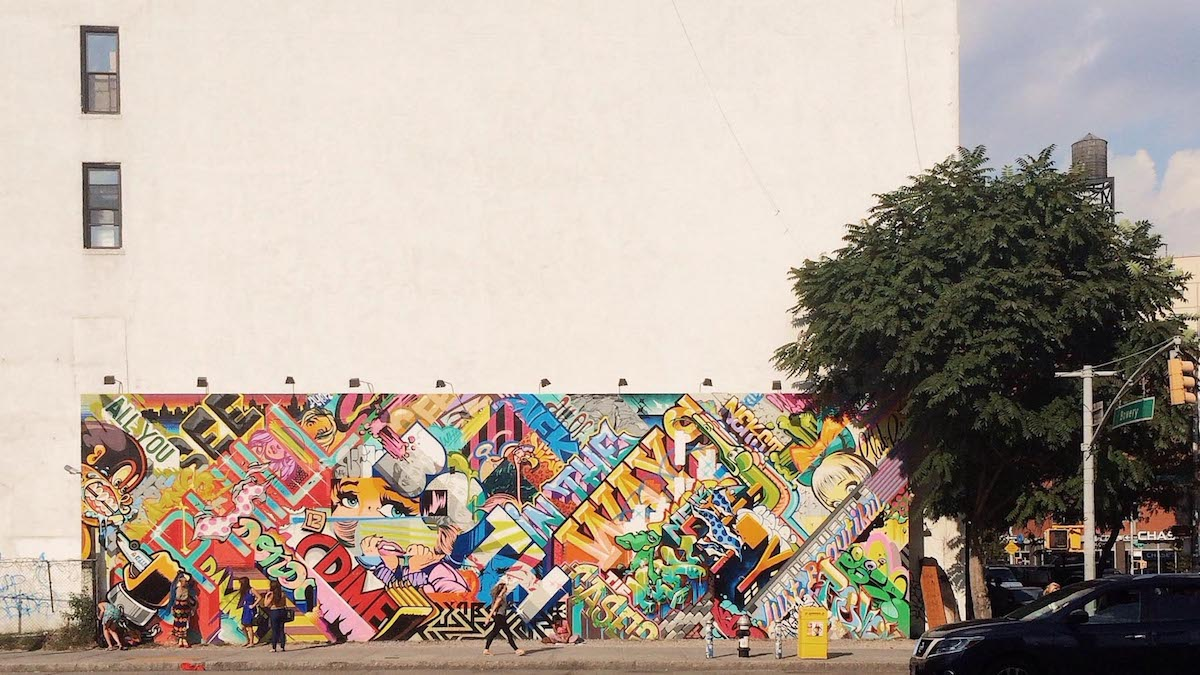This mural was somewhere on Houston in Manhattan — I took the picture out of sheer curiosity.
