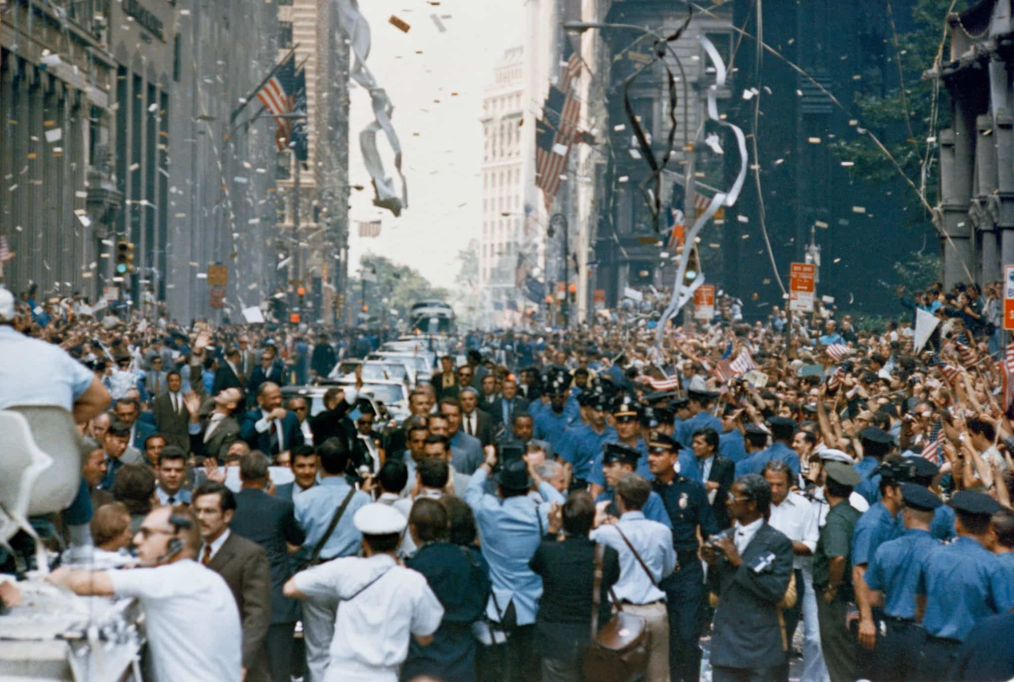 New York City welcomed the Apollo 11 crew with a ticker tape parade down Broadway and Park Avenue
