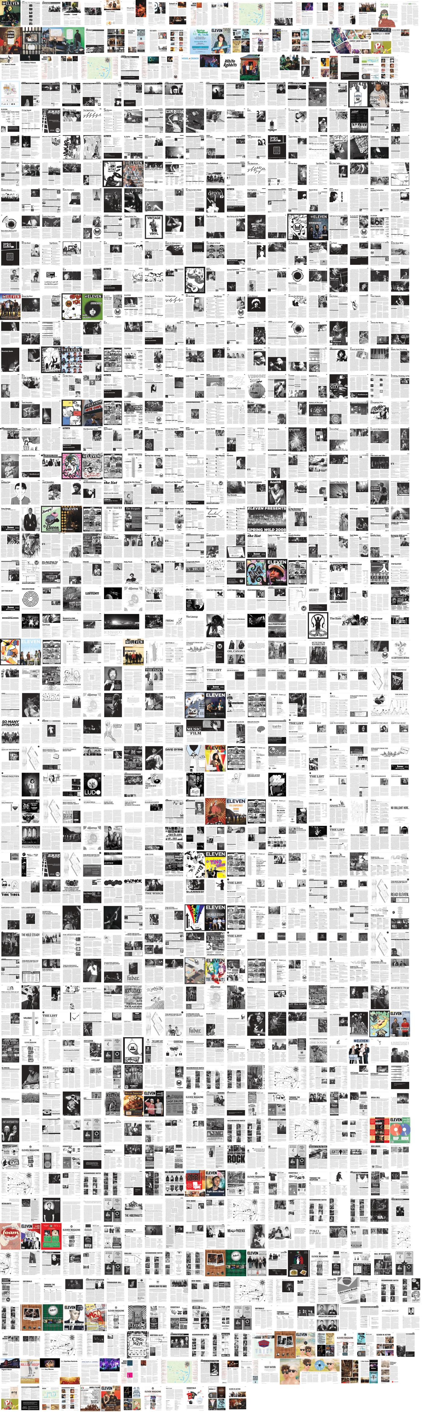 All of the pages I designed for Eleven.