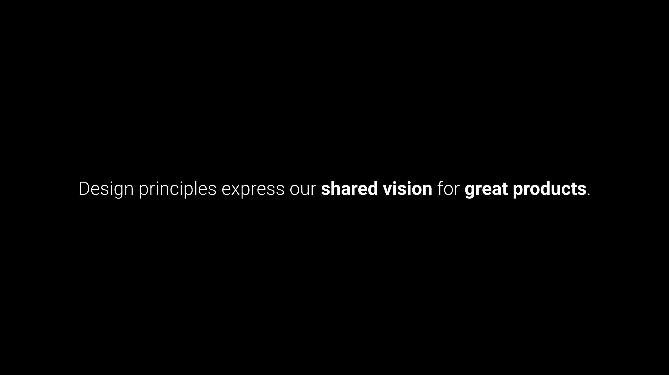 My design principles workshop slides