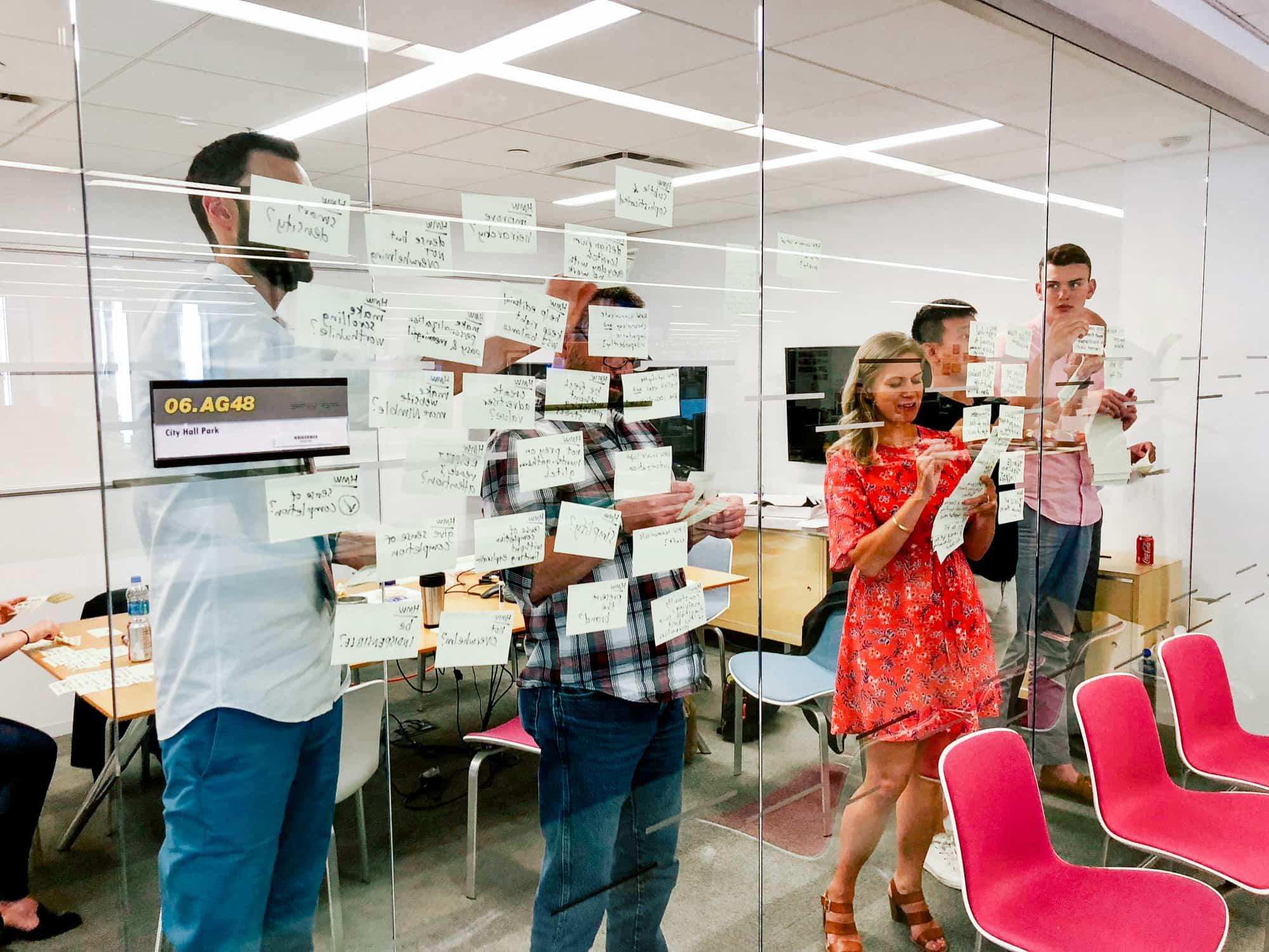 The WSJ Design team at a recent design sprint